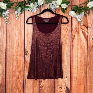 3/$30 Maurices Sequin Sleeveless Blouse